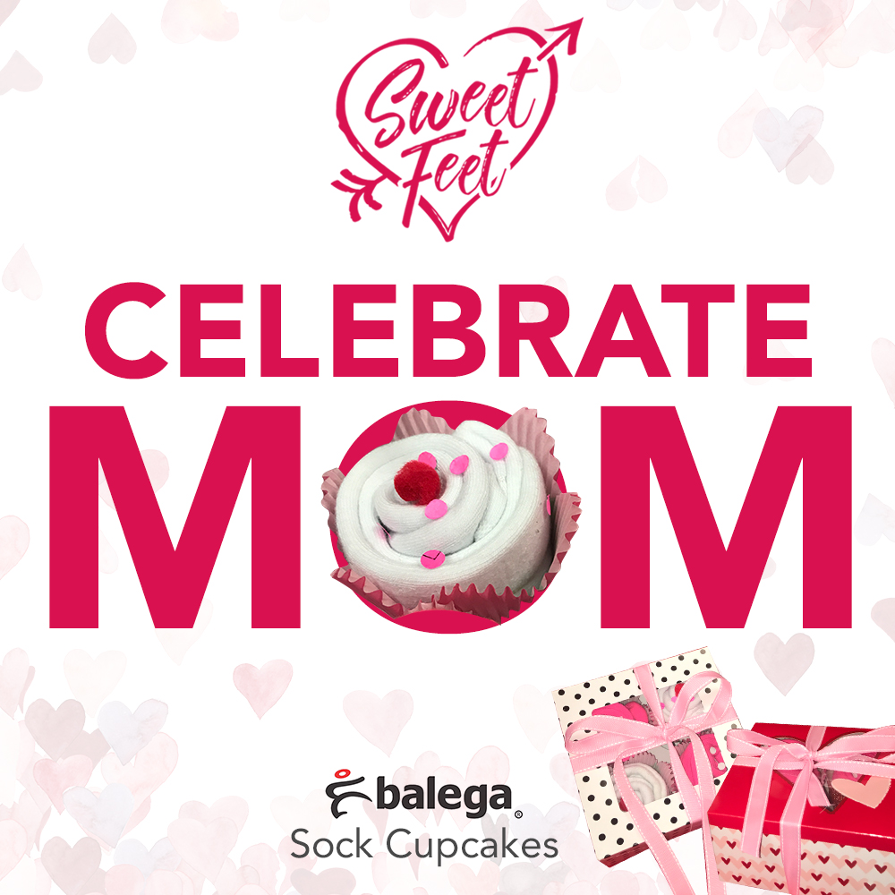 Celebrate mom with Balega Sock Cupcakes